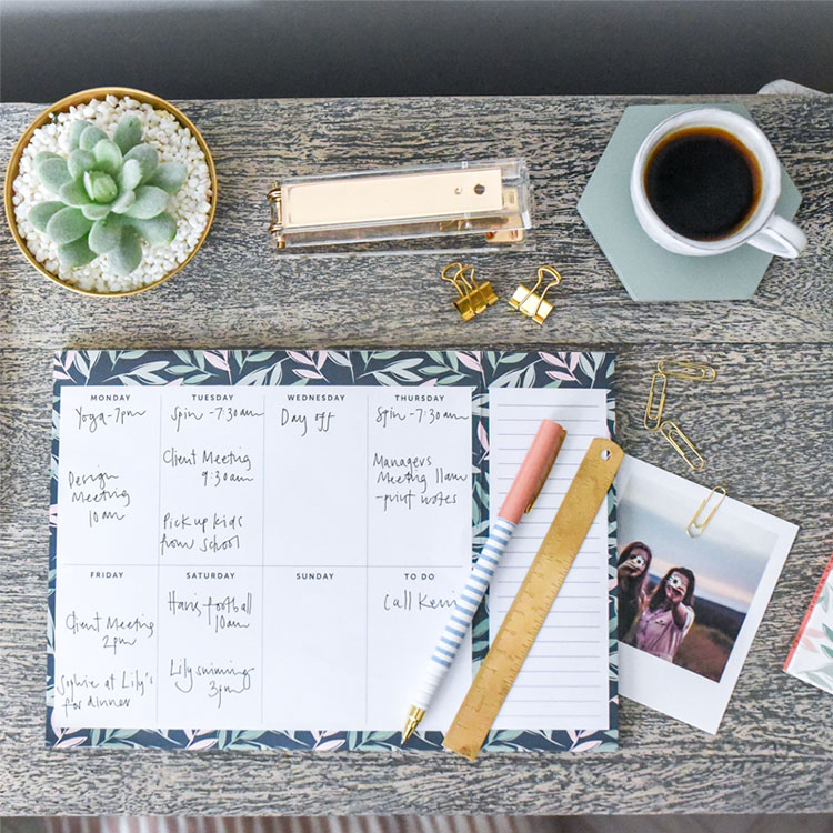 Plan out your study timetable with the Weekly Planner Pad