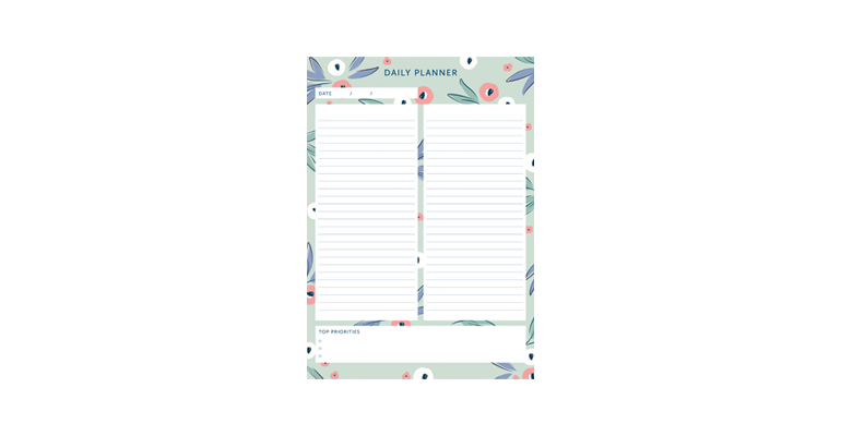 Daily Planner - Floral Image