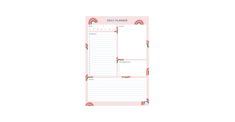 Daily Planner - Rainbow Image