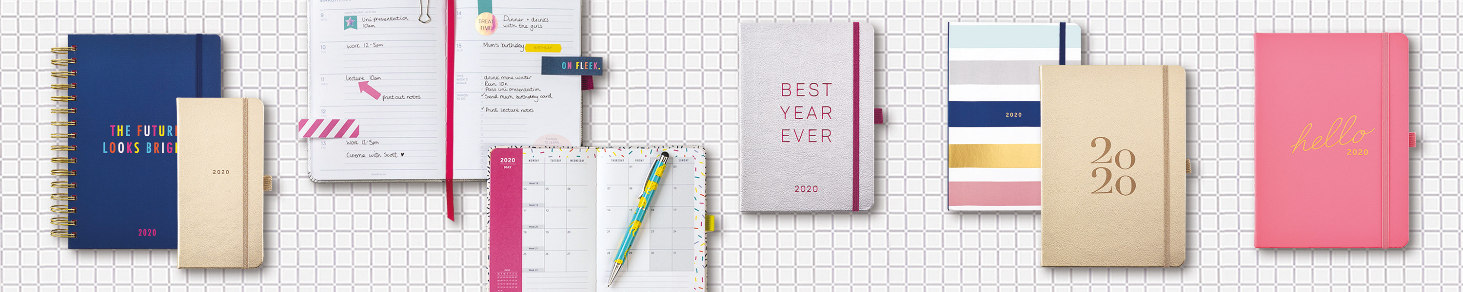 2020 Diaries & Planners Banner Image