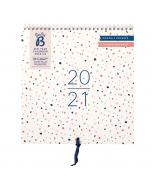 Mid Year Calendar 2020/21 Terrazzo