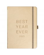 Goals Diary 2021 Rose Gold Faux