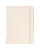 Dual Schedule Day A Page Diary 2021 Pale Pink Faux