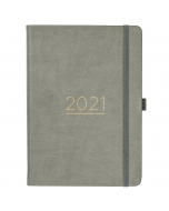 Busy Life Diary 2021 Grey Faux