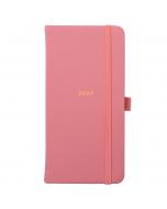 Slim Diary 2022 Pink Faux