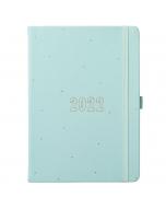 Busy Life Diary 2022 Seafoam Blue Faux