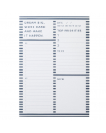 A5 List Pad Navy Stripe