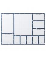 A3 Desk Pad Navy Stripe