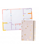 A3 Desk Pad / Busy Life Notebook A5 Lilac Paper