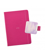 Busy Life Notebook - A5 Faux Pink / Pen Loop