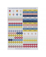 Weekly Family Calendar 2021 Sticker Refill (X5)