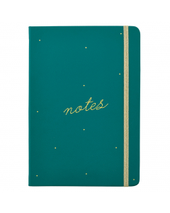 Busy Life Notebook - A5 Faux Green