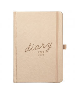 Mid Year 17 Month Diary 2020/21 Rose Gold Faux