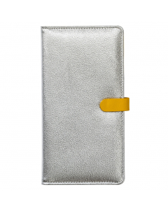 Travel Wallet Silver Yellow