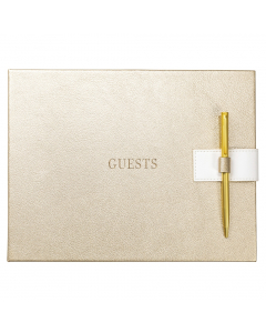 Guest Book Gold Faux