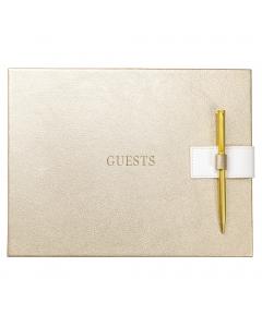 Guest Book Gold Faux