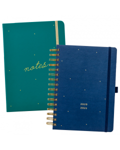 Mid Year 17 Month Busy Life Planner 2020/21 / Busy Life Notebook A5 Faux Green