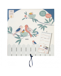 Large Family Calendar 2021 Birds