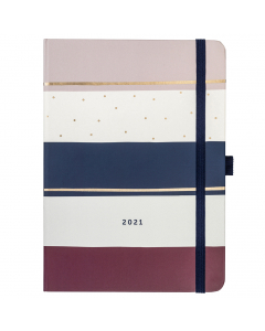 Busy Life Diary 2021 Stripe