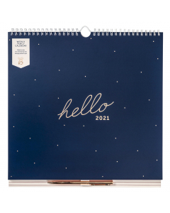 Weekly Family Calendar 2021 Navy