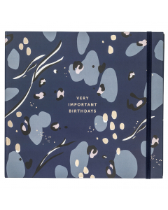 Birthday Card Book Navy
