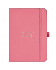 A6 To Do Diary 2021 Coral Faux