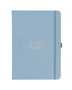 Day A Page Diary 2021 Cornflower Faux