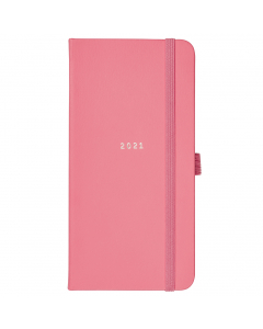 Slim Diary 2021 Coral Faux