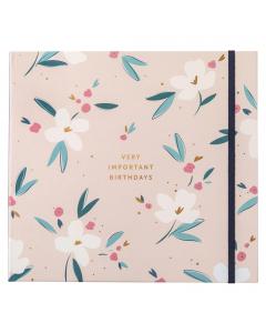 Birthday Card Book Pink