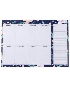 Weekly Planner Pad Navy
