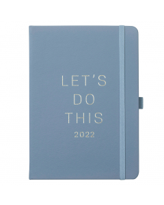 Goals Diary 2022 Periwinkle Faux