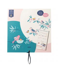 Large Family Calendar 2022 Birds