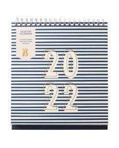 Desktop Calendar 2022 Navy Stripe