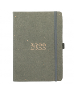 Busy Life Diary 2022 Grey Faux