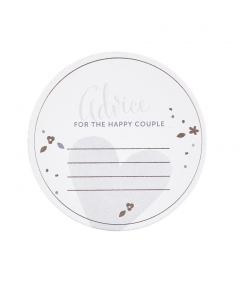 Wedding Guest coaster with space for personal message