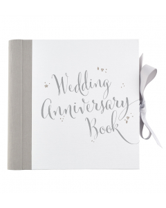 Wedding anniversary keepsake book in a box