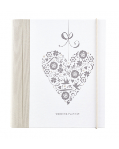 Wedding planner with checklists and pockets