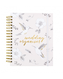 Wedding organiser with checklists and pockets