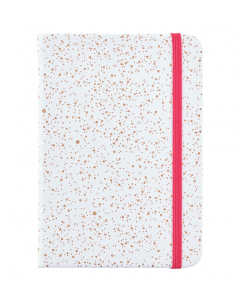 Busy Life Notebook - A6 Faux White