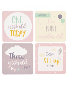 Milestone Cards - Pink