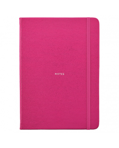 Busy Life Notebook - A5 Faux Pink