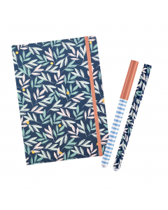 Busy Life Notebook - A5 Paper / Rollerball Pens