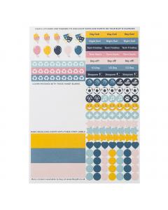Family Calendar & Large Family Calendar 2022 Sticker Refill (x5)