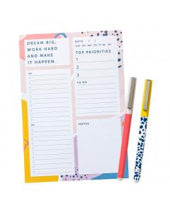 List Pad / Rollerball Pens