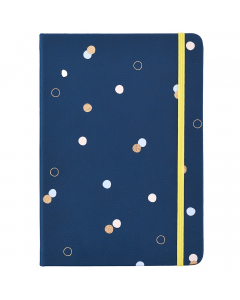 Busy Life Notebook - A5 Faux Navy