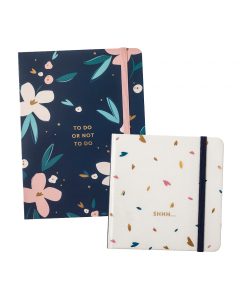 To Do Notes Navy / Password Book Cream
