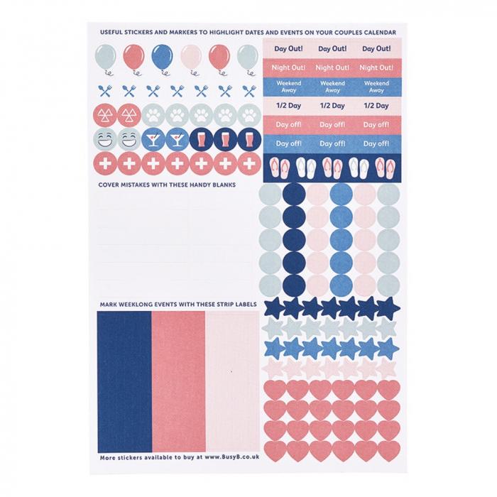 Couples Calendar 2020 - Sticker Refill (X5)