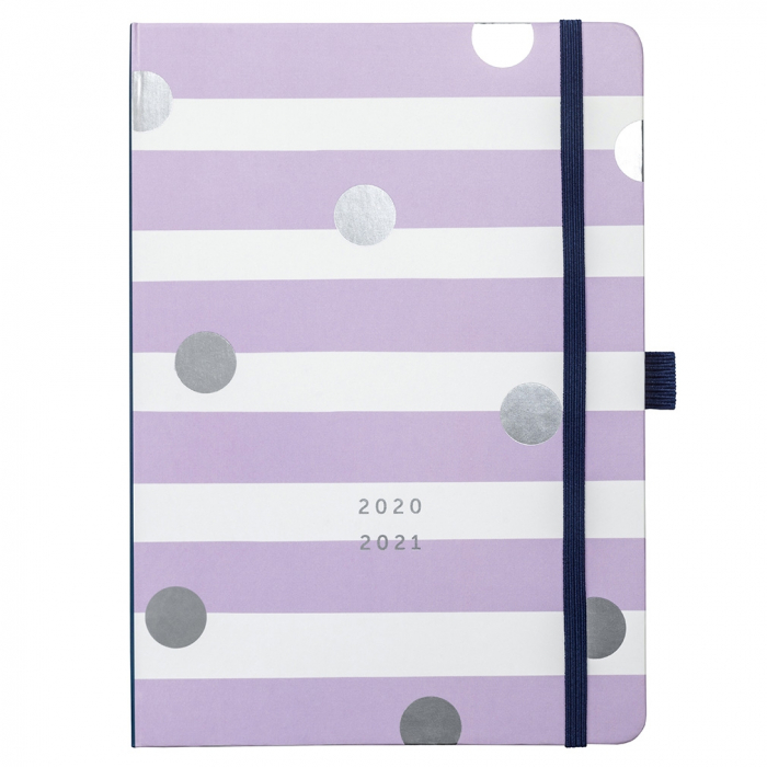 Mid Year Busy Life Diary 2020/21 Lilac Stripe