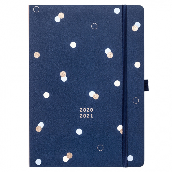 Mid Year Day a Page Diary 2020/21 Navy Spot