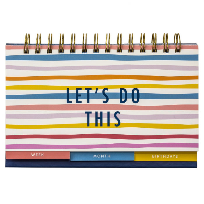 Week & Month Planner Bright Stripes